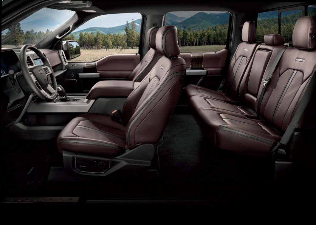 Ford F-150 interior red seats